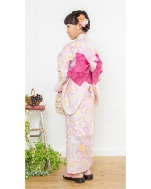 ピンク系 桜 スクール浴衣+帯+下駄|GIRL見る