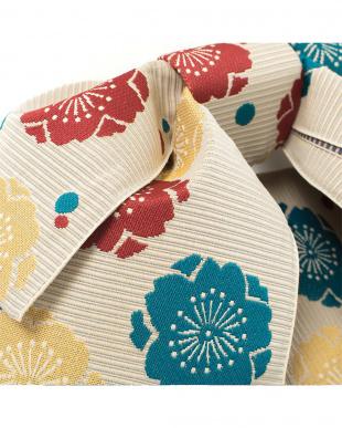 ベージュ系 古典梅柄 造り帯(5枚羽)|WOMEN見る