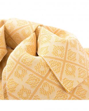 イエローオレンジ系 菱模様 造り帯(5枚羽)|WOMEN見る