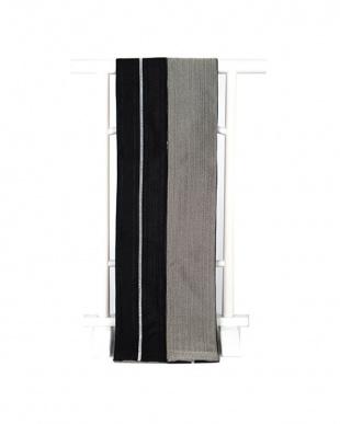 ブラック系 JUNKO KOSHINO 縞入り メンズ角帯|MEN見る