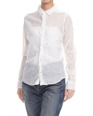 ホワイト  シャーリングシャツ見る