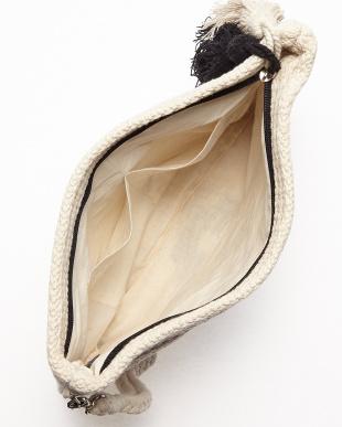 OFF WHITE×BLACK NATIVE MOTIF JACQUARD ZIP CLT(手織り)見る