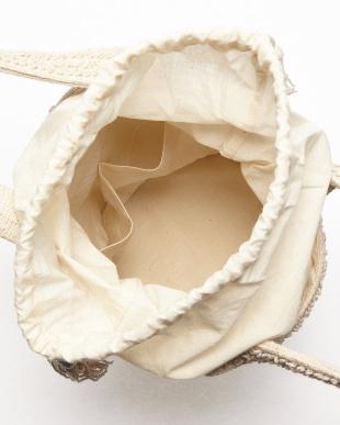 OFF WHITE  BUBBLE JACQUARD BUCKET BAG HANDLOOM(手織り)見る