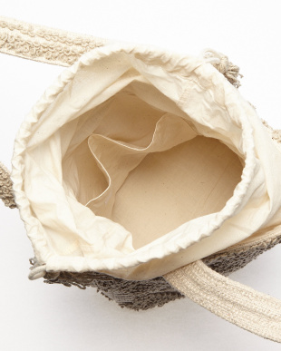 LIGHT GRAY  BUBBLE JACQUARD BUCKET BAG HANDLOOM(手織り)見る