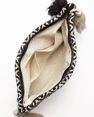 OFF WHITE×BLACK MONOTONE JACQUARD ZIP CLT(手織り)ダイヤ柄見る