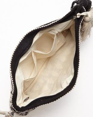 OFF WHITE×BLACK MONOTONE JACQUARD ZIP CLT(手織り)幾何学柄見る