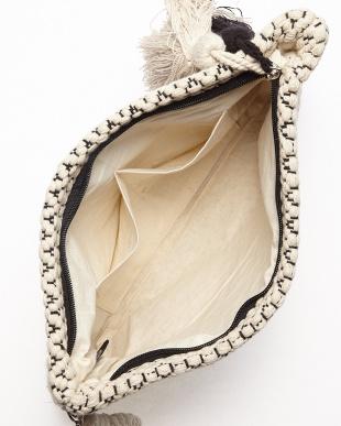 OFF WHITE×BLACK MONOTONE JACQUARD ZIP CLT(手織り)小紋柄見る