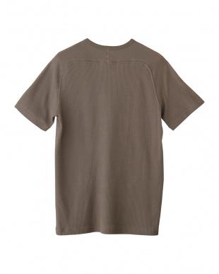 モカ フリーダムスリーブクルーネックTシャツ見る