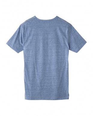 ブルーモク  杢調VネックTシャツ見る