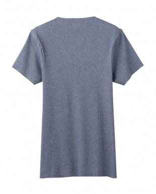 ネービーモク  カットオフ仕様VネックTシャツ見る