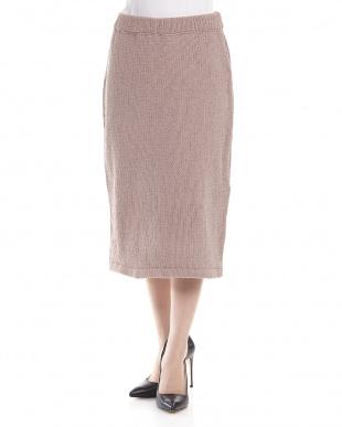 ベージュ  WWT  MG モールヤーンタイトスカート見る