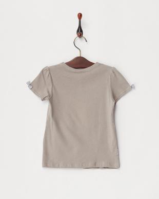 グレー  リボンTシャツ見る