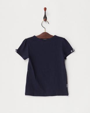 ネイビー  リボンTシャツ見る