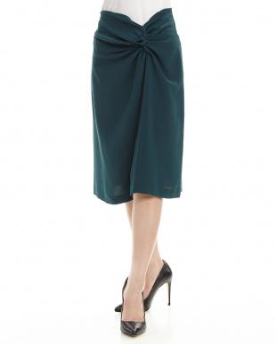 緑  クロスデザインスカート見る