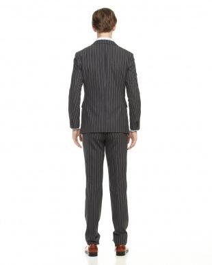 グレー ワイドピッチストライプコーデュラ スーツ見る