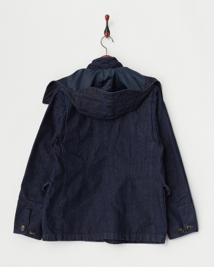 INDIGO DENIM HUNTING JACKET見る
