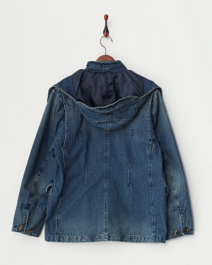 VINTAGE WASH DENIM HUNTING JACKET見る