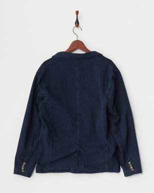 VINTAGE WASH INDIGO JACQUARD TAILORED JACKET見る