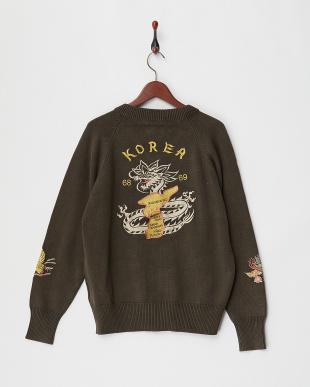 OLIVE DRAB 刺繍C-2セーター見る