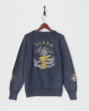 NAVY 刺繍C-2セーター見る