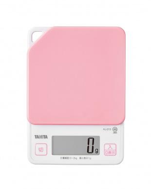 ピンク  デジタルクッキングスケール KJ-213見る