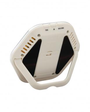 アイボリー  デジタル温湿度計 TT-573見る