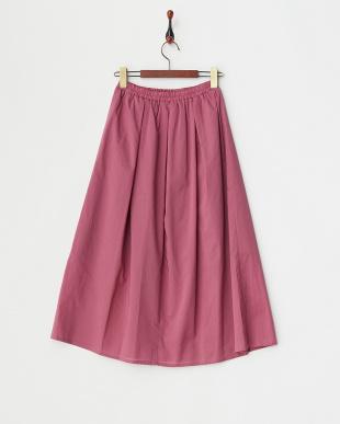 パープル ギャザースカート見る