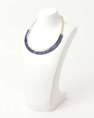 Blue  Acrylic Chain Necklace見る