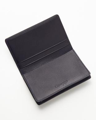 ネイビー コードバン カードケース見る