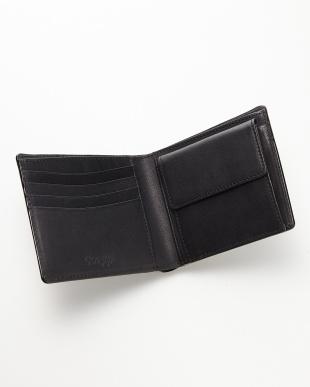 ブラック コードバン 二つ折り財布見る