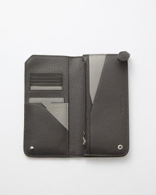 ダークグレー(13) イタリアンレザー2つ折り長財布見る