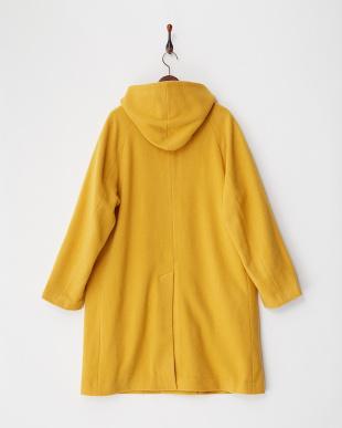 yellow ウールカラーフードコート見る