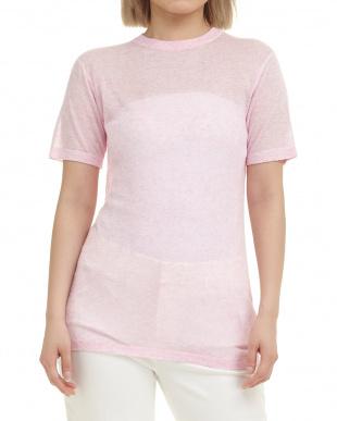 ピンク Flora:ニットプルオーバー見る