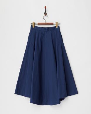 BLUE ミディバックテールスカート見る