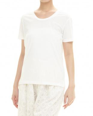 ホワイト  UVクルーネックTシャツ見る