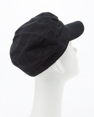 ブラック  COTTON LINEN MARINE CAP見る