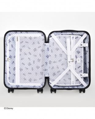 ホワイト  限定・Disney ミッキー&ミニーシルエット スーツケース 32L見る