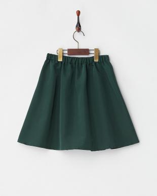 グリーン グログランスカート(140以上)見る