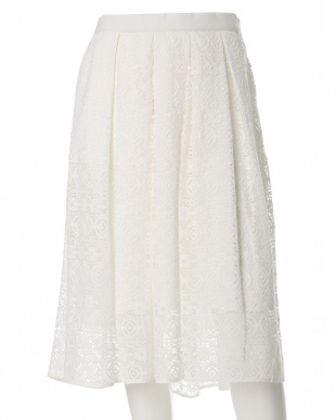 ホワイト 《ef-de》レースフレアスカート ef-de L Size見る