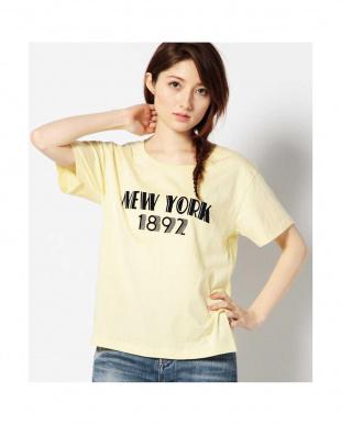 YELLOW MID1 ロゴプリントTシャツ R/B(オリジナル)見る