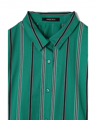 グリーン1 マルチストライプレギュラーカラーシャツ R/B(オリジナル)見る