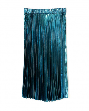 BLUE メタリックプリーツスカート R/B(バイイング)見る