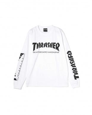 ホワイト1 ロングTシャツ R/B(バイイング)見る