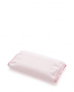 ピンク  サラッと、ひんやりピローカバー付きウォッシャブルパイプ枕見る
