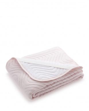 ピンク  高密度綿パイル敷パット ダブルサイズ見る