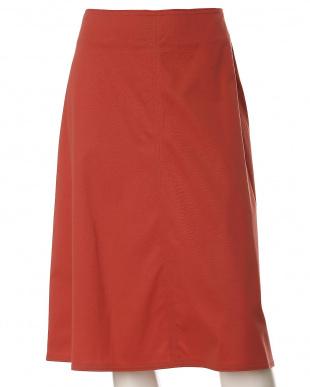 ワイン5 《大きいサイズ》ストレッチAラインスカート INED L size見る