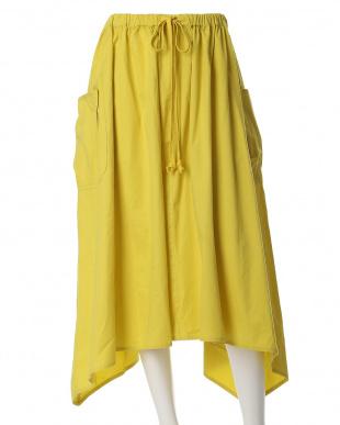 イエロー 《INED》アシンメトリーヘムラインカーゴスカート INED L size見る