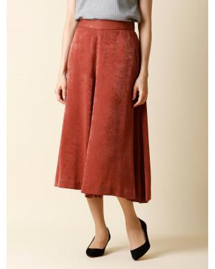 レンガ2 《大きいサイズ》シャイニーワイドスカート INED L size見る