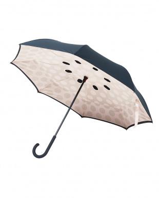 アーモンドベージュ(DBBK)  2重傘circus(サーカス)Dot 晴雨兼用見る