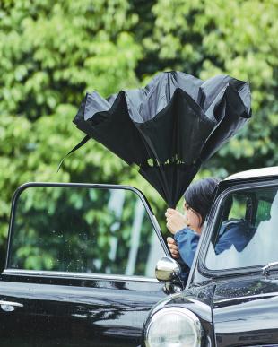 ブラック(BKBK)  2重傘 circus(サーカス) 晴雨兼用見る